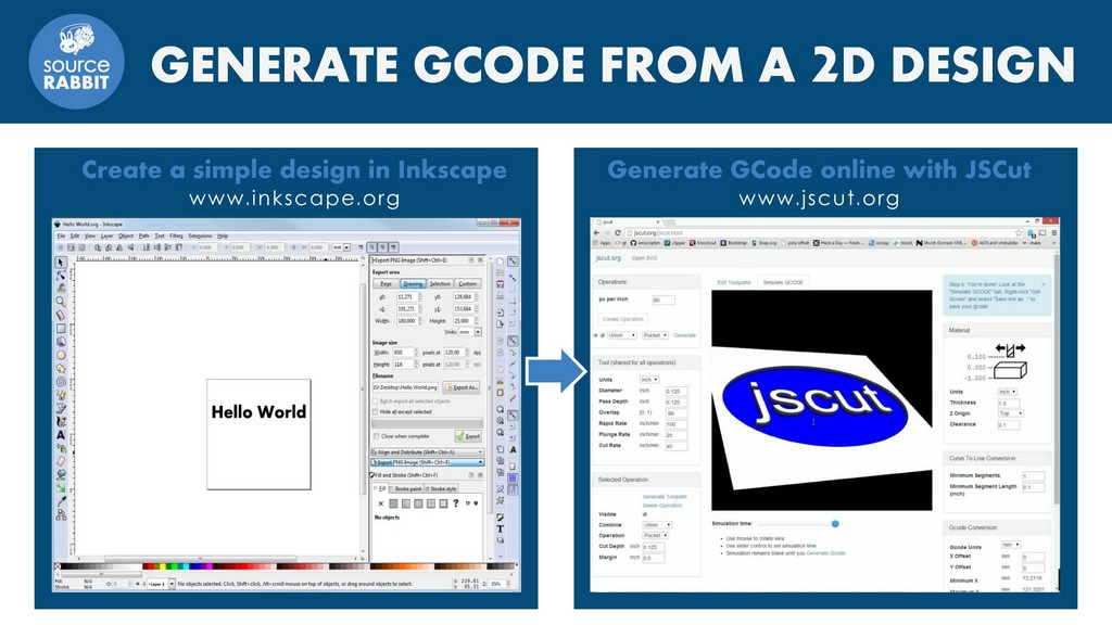 How to generate GCode from an SVG file using JSCut